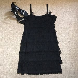588435d3a17 Michael Kors Dresses - Vintage Michael Kors fringe chemise flapper dress.